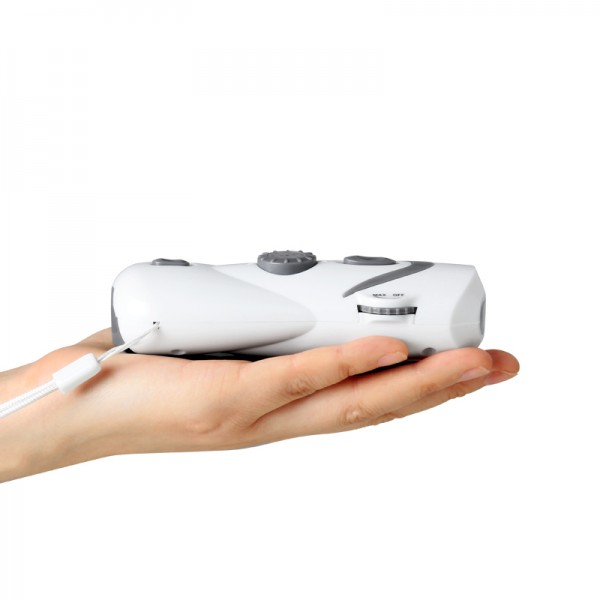 Dynamo Crank Hand Flashlight FM Radio high sensitive With USB Charging