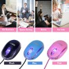 Mini Optical Wired Ergonomic Mouse LED Light Computer Notebook Laptop Mice for Children and Lady by SOONGO