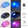 Mini Optical Wired Ergonomic Mouse LED Light Computer Notebook Laptop Mice for Children and Lady by SOONGOMice