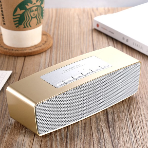 Portable Bluetooth Speakers with Great Sound and Extra Bass, 4.2 Wireless Speakers Supports Aux-In, TF Card, FM and USB,Wireless Speakers for Phone, Computers, TV and MoreBluetooth Speaker