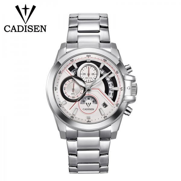 Men Watches Chronograph Luxury Sport Wrist Watch with Stainless Steel Strap Watches for Men