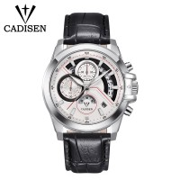 Watches for Men Chronograph Waterproof Military Sport Mens Wrist Watch with Leather Band