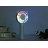 USB charging colorful atmosphere lamp mute mini fan portable handheld fan