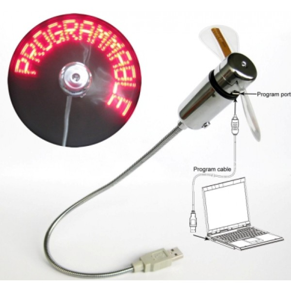 USB Computer Program Message Fan
