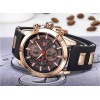 Men s Chronograph Analog Quartz Business Watch with Date Luminous Waterproof Silicone Strap Casual Dress Wrist Watches for family giftWrist Watches