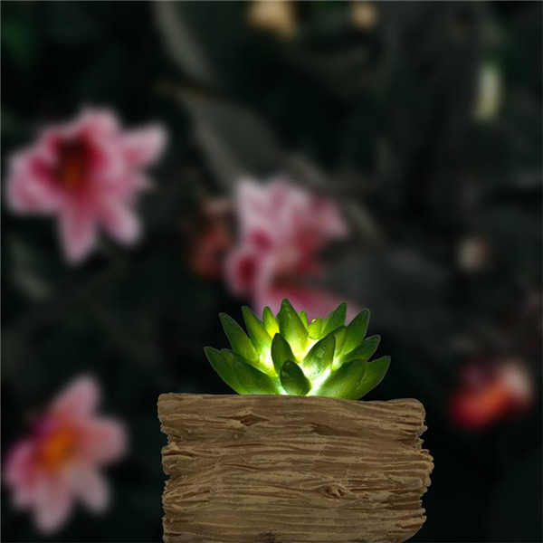 Artificial Succulents Potted with Solar Table Lamp, Garden Patio Lights for Home Party Yard Patio Outdoor Indoor Decoration Night LampLED light