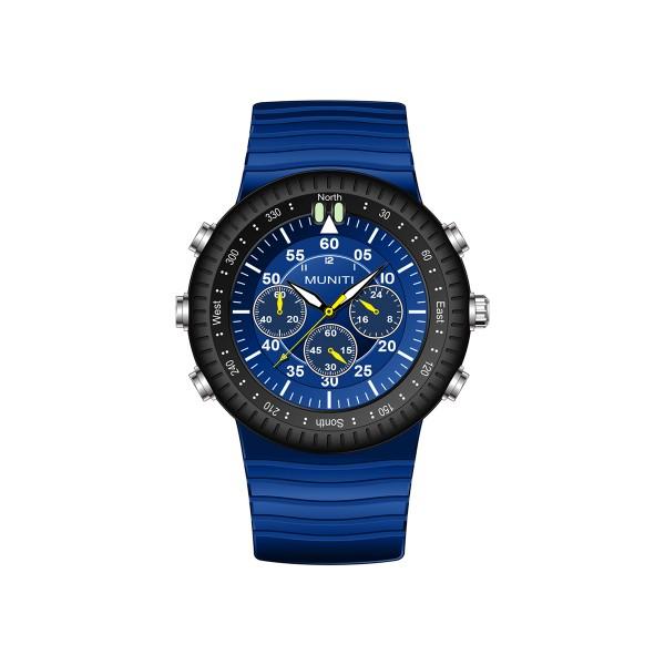 Mens Quartz Watch Rubber Band Leisure Luminous Waterproof Watch Accessory