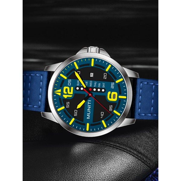 Men s Quartz Watch All Match Leisure Waterproof Trendy WatchHoliday Gift