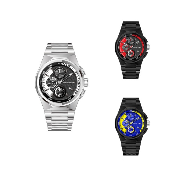 Mens Watch Fashion Business Casual Waterproof Steel Strap Quartz Wristwatch