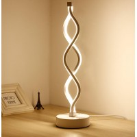 Twist - Modern LED Living Room Floor Lamp - Bright Contemporary Standing Light - Built in Dimmer Switch with 2 Brightness Settings - Cool, Futuristic Lighting
