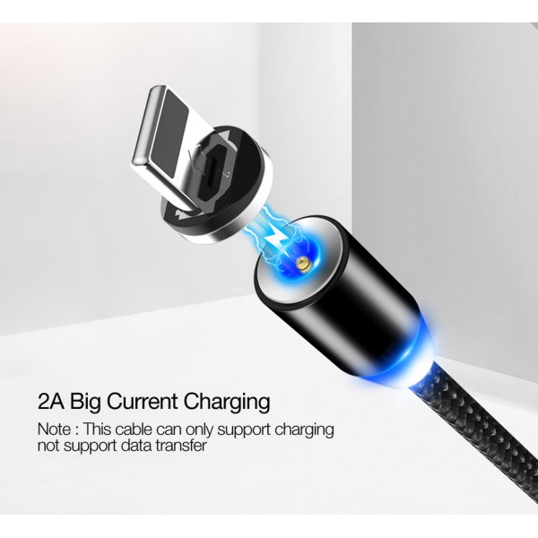 SOONGO LED Magnetic USB Cable Magnet Plug USB Type C Micro USB IOS Plug for samsung huawei xiaomi iPhone Xs Xr X 8 7 6 Plus 5