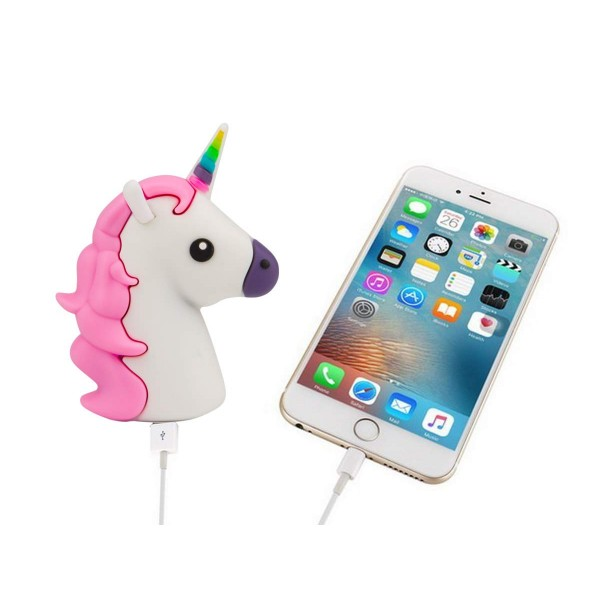 Lightweight 1800mah Mini Unicorn Power Bank Portable Charger Cute Funny   Cartoon Gift Power Bank External Battery Portable Mobile Phone Charger For   Iphone Ipad Samsung Galaxy Note All Tabletes