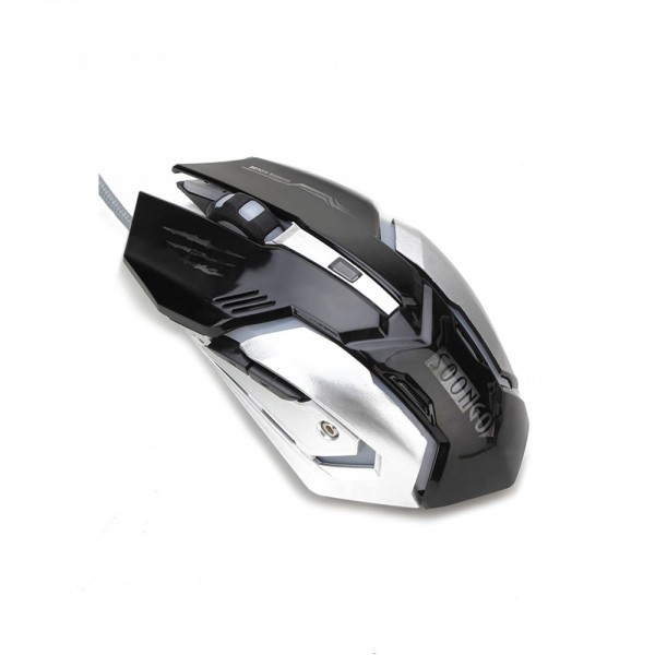 SOONGO Gaming Mouse Professional Adjustable 3200 DPI Precise Sensitivity Optical High-Grade USB Wired Pro Gamer Mouse with 4 Colors Breathing Lights and Stable SteelMice
