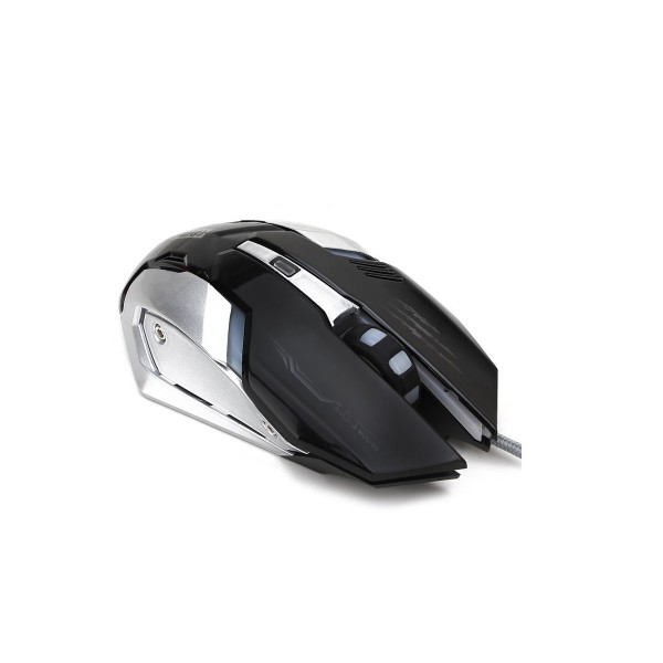 SOONGO Gaming Mouse Professional Adjustable 3200 DPI Precise Sensitivity Optical High-Grade USB Wired Pro Gamer Mouse with 4 Colors Breathing Lights and Stable Steel