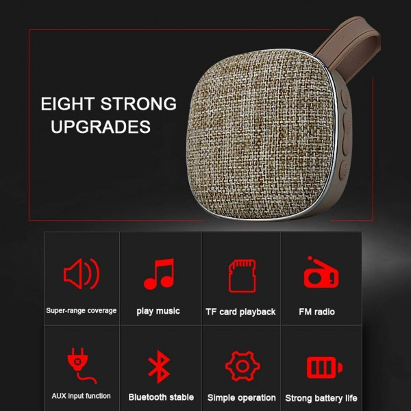 Portable Mini Bluetooth Speaker Super Coverage of The Sound Field, Fm Fm Radio Tf Card Aux Play,Bass Thicker Middle Sound Stable High Sound Bright