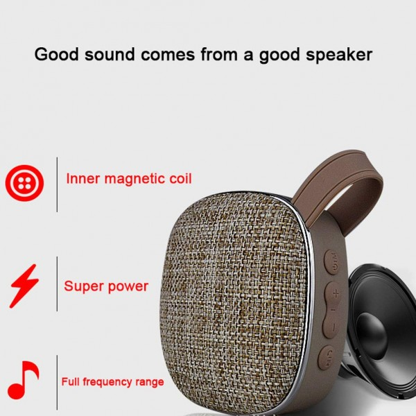 Portable Mini Bluetooth Speaker Super Coverage of The Sound Field, Fm Fm Radio Tf Card Aux Play,Bass Thicker Middle Sound Stable High Sound BrightBluetooth Speaker