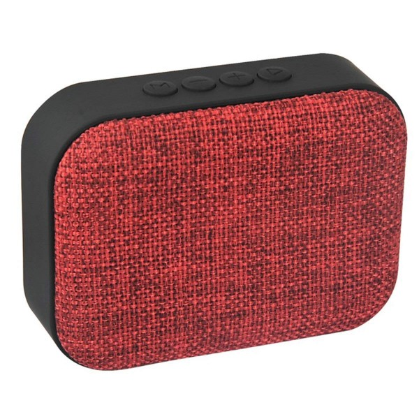 Portable Canvas Fabric Art Mini Bluetooth Wireless Speaker Loudspeaker FM Radio Support TF U-Disk