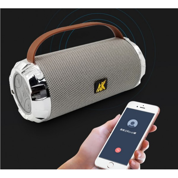 LED Portable Bluetooth Speaker, Wireless Indoor Outdoor Boombox with FM Radio, AUX, USB, SD Card and MIC SupportBluetooth Speaker