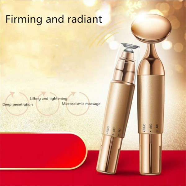 24k Golden Pulse Facial Massager,Energy Facial Roller Micro Vibrating Massager for Face Lifting Anti-Wrinkles