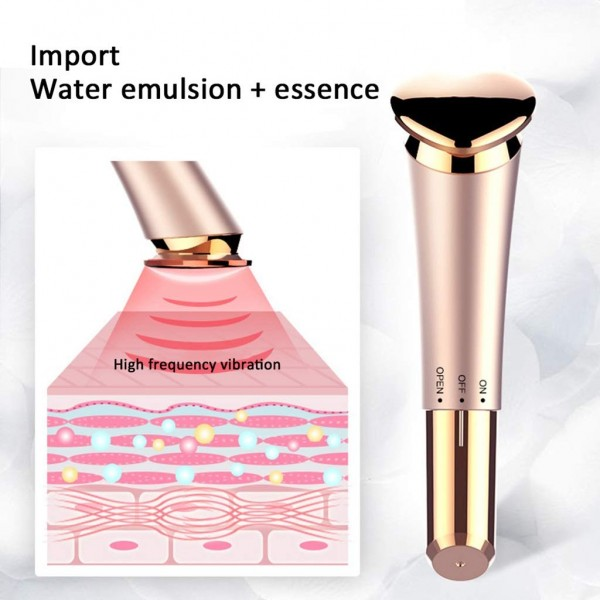 Portable Heart-Shaped Facial Massager Vibration Face Beauty Device Rechargeable Cheeks Slimmer Skin Tightening Rose GoldWomen